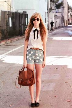 Got a shirt like this the other day , love this look  with the denim shorts and brown belt !!!