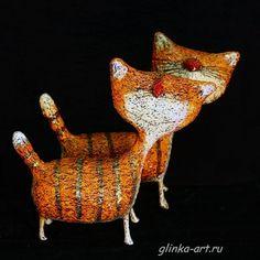 paper mache cats