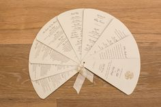 How cool is this fan-shaped wedding program?