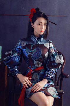 """ゆかさんのツイート: """"ファン・ビンビンの最新ファッション誌お仕事。艶やかにお美しい。ドルガバのドレスも彼女が着ると東洋の寵姫っぽくなる。…"""