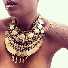 Turkish Coin Tribal Collar- Gold - Child of Wild  - 2