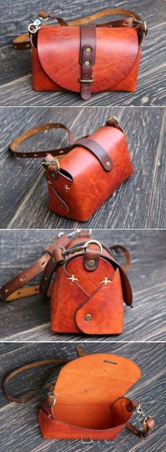 by LeatherJoJo : Steampunk leather bag Leather Pouch, Leather Purses, Leather Handbags, Leather Totes, Leather Bags Handmade, Leather Craft, Diy Leather Dye, Crea Cuir, Leather Tutorial