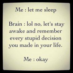 Talk between me and brain when I am asleep