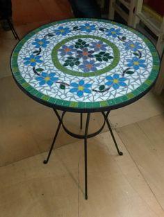Mesa de Hierro decorada en mosaico veneciano - Mesas - Casa - 802886
