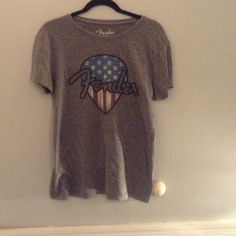 Lucky brand graphic tee Worn once! Great fit! Great condition! Tops