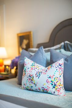 Caitlin Wilson British Bouquet Pillow styled by The Curtis Casa