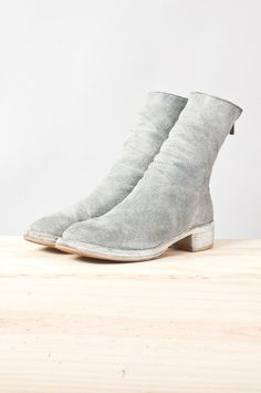 guidi - 788zs reverse bison leather back-zip boot