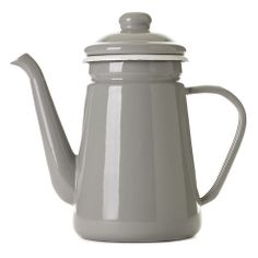 Enamel Coffee Pot - Ash Grey