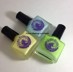 Fierce Makeup and Nails: Lime Crime: Crema de Limon, Once in a Blue Mousse and Pastelchio
