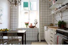 Chandelier in the kitchen!