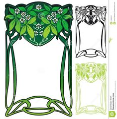Art Nouveau Border - Download From Over 26 Million High Quality Stock Photos, Images, Vectors. Sign up for FREE today. Image: 37458412
