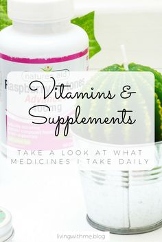 As someone with a chronic illness it is very easy to end up taking far too many vitamins and supplements and you just can't remember them all! Here are the main ones that I take daily, without fail!
