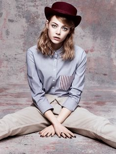 """Emma Stone in """"The Darling"""" by Craig McDean for Vogue, May 2014"""