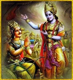 Lord Krsna drew up the fine chariot in the midst of the armies of both parties. B.G. 2.24