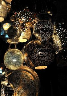 Moroccan lanterns - inspiration are you going gold, silver, or copper for the look?