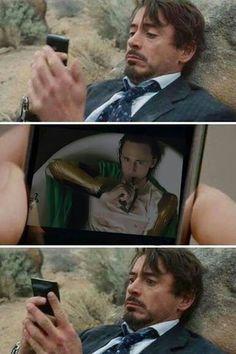 Loki selfie to Tony Stark