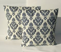 set of 2  damask pillow covers Designer Fabric    by creativeladys, $24.00