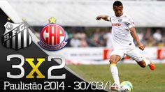 Santos 3 x 2 Penapolense - Gols - Paulistão 2014 (30/03/14)