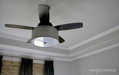 Crazy Wonderful: DIY drum shade ceiling fan
