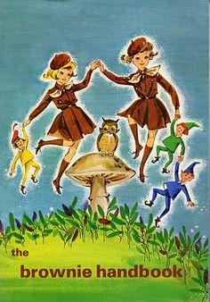 1965 -1977 The Brownie Handbook  Illustrator: Frances Shadbolt. #vintage #GGC #GirlGuides #Brownies