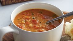 For an easy and filling meal, you can't beat our Red Lentil & Tomato Soup recipe from Sobeys made with lots of carrots, celery, canned diced tomatoes and easy-to-cook red lentils. Cooking Red Lentils, Red Lentil Soup, Tomato Soup Recipes, Homemade Soup, Soup And Sandwich, Gf Recipes, Soups And Stews, Vegan Vegetarian, Meals