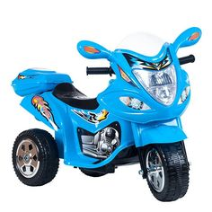 Ride on Toy, 3 Wheel Trike Motorcycle for Kids, Battery Powered Ride On Toy by Lil Rider Ride on Toys for Boys and Girls, 2 - 5 Year Old - Blue
