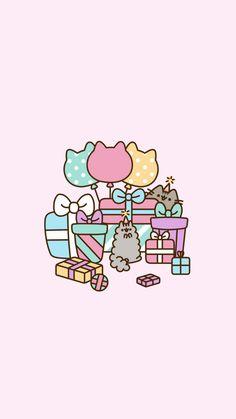 🌸Lil Princess🌸 — Pusheen/Stormy lockscreens requested by. Cute Kawaii Drawings, Cute Animal Drawings, Kawaii Art, Chat Pusheen, Pusheen Love, Kawaii Wallpaper, Cat Wallpaper, Iphone Wallpaper, Pusheen Christmas