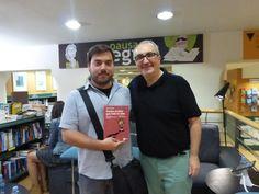 Con Sergio Parra en la presentación de Vuelve el listo que todo lo sabe en La Casa del libro de Barcelona