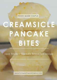 Looking for a fresh (and fast) breakfast solution to those dreary winter mornings? These delicious little pancake bites are simple to make, eat, and share. With a zingy pop of orange, they're sure to have your taste-buds singing! via @lwsl