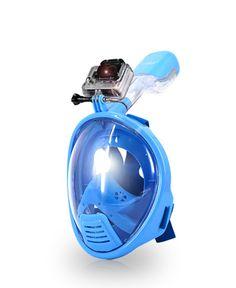 AquaMask – Full Face Snorkel Mask For Kids (Blue)