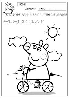 Educação infantil facil: Atividades Peppa Pig Tracing Worksheets, Preschool Worksheets, Drawing For Kids, Painting For Kids, Quote Coloring Pages, Romantic Picnics, Free Preschool, Home Schooling, Infant Activities