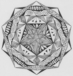 Zentangle/Zendala Lover: februari 2015