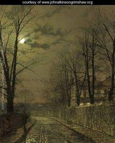 December Moonlight - John Atkinson Grimshaw - www.johnatkinsongrimshaw.org