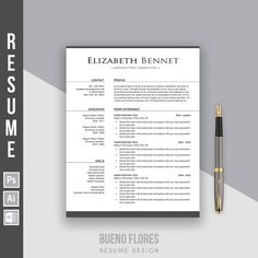 Resume Template Charlotte York  Cover Letter   Icons Pc