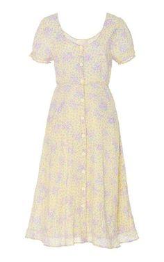 LoveShackFancy Regina Button Up Lemon Cream Midi Dress Size: 00 Dress Outfits, Casual Dresses, Fashion Outfits, Summer Dresses, Womens Fashion, Pretty Outfits, Pretty Dresses, Beautiful Dresses, Beautiful Clothes