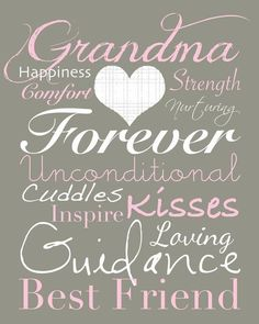 As a Grandmother, I believe in being there forever to pass on my life lessons which I have experiened!