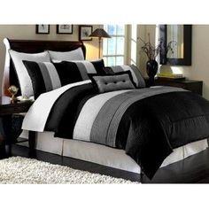 King Comforter Set (8 Piece), More Info Here: http://bacheloronabudget.com/bedroom/textiles/king-comforter-set-7-piece/