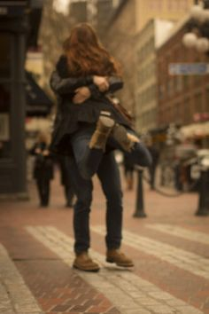 """There are two kinds of hugs in this world. A hug around the waist says """"I love you"""" but a hug around the neck, that says """"I never want to let you go. Romantic Love, Hopeless Romantic, Romantic Moments, Romantic Quotes, I Smile, Make Me Smile, This Is Love, Love You, The Embrace"""
