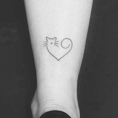 Kitty heart tattoo - Sophie World Cute Tiny Tattoos, Bff Tattoos, Little Tattoos, Friend Tattoos, Mini Tattoos, Beautiful Tattoos, Body Art Tattoos, Small Tattoos, Tattos