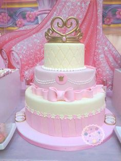 Princess Aurora birthday party cake! See more party ideas at CatchMyParty.com!
