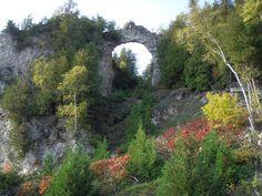 Arch Rock, Mackinac Island, Michigan, USA