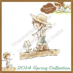 Dreamerland Crafts Cling Stamp - SPR14 Come Walk With Me