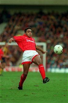 Gary Charles of Nottingham Forest in Nottingham Forest Fc, 1990s, Soccer, Football, Running, Scrapbooks, England, Futbol, Futbol