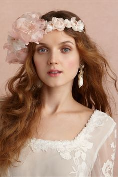 Otherworldly Halo in Shoes & Accessories Headpieces Headbands at BHLDN | Murmure (France) | $320