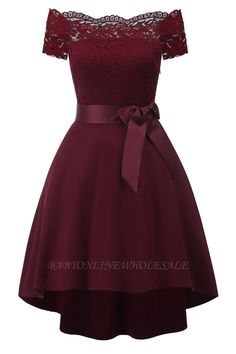 Wine Red Lace Bow Vokuhila Off Shoulder Elegant Midi Dress Skater Dress B . - - Wine Red Lace Bow Vokuhila Off Shoulder Elegant Midi Dress Skater Dress Ball Gown Elegant Midi Dresses, Green Lace Dresses, Lace Summer Dresses, Sexy Dresses, Casual Dresses, Formal Dresses, Dress Lace, Long Dresses, Dress Red
