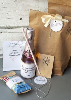 Geschenke für die Trauzeugin/Brautjungfer