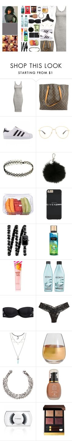 """""""baby i wanna do the right thing, feels so much better than the wrong thing"""" by m-elaningoddess ❤ liked on Polyvore featuring H&M, Louis Vuitton, adidas Originals, Gucci, MICHAEL Michael Kors, Chanel, Redken, Hanky Panky, Marc Blackwell and New Look"""