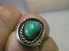 Vintage Southwestern Turquoise ring size 6.5 by stampshopgirl