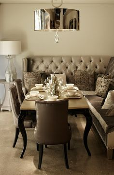 www.eyefordesignlfd.blogspot.com Decorating With Banquette Seating
