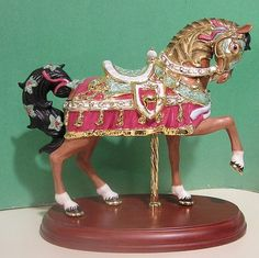 Carousel Statues:  Lenox 2010 Annual Christmas Carousel Horse Medieval